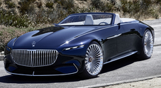 Mercedes-Maybach 6 Cabriolet, Art Decò con la capote al debutto a Pebble Beach