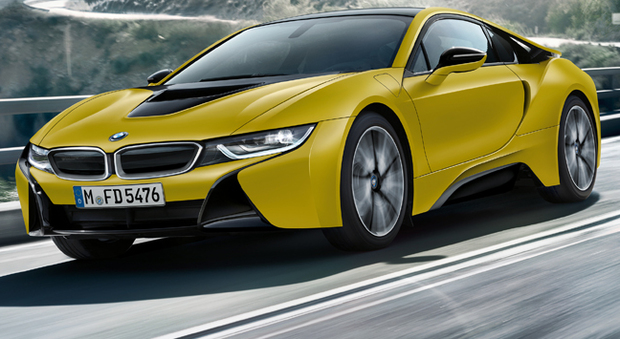 La Bmw i8 Frozen Yellow Edition