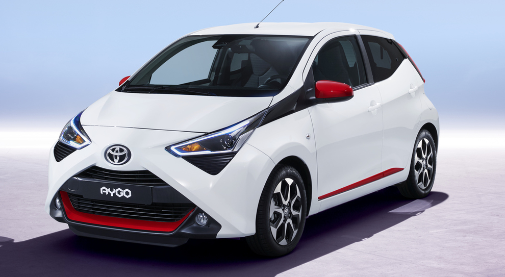 La Toyota Aygo model Year 2018